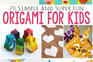 simple origami for kids: printable origami instructions | 200x300