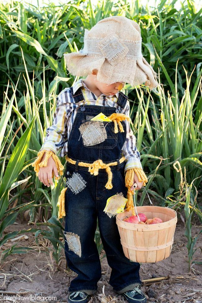 diy toddler scarecrow costume
